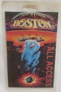 BOSTON - ORIGINAL VINTAGE FIRST TOUR CONCERT ALL ACCESS LAMINATE BACKSTAGE PASS