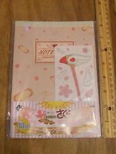 Cardcaptor Sakura Card Captor notebook and seal. Ichiban Kuji.