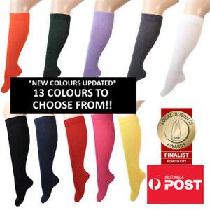 Women's Plain Coloured Knee High Socks