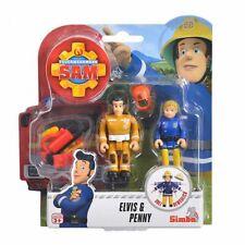 Elvis & Penny | Feuerwehrmann Sam | Spiel Figuren Set | Simba Toys