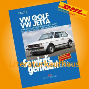VW GOLF 1 Scirocco REPARATURANLEITUNG So wirds gemacht Etzold Reparatur-Handbuch