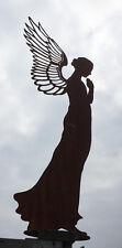 ENGEL SANTINE BETEND 77 cm hoch Edelrost Rost Weihnachtsengel Flügel Dekoration