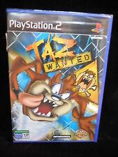 Taz W.a.n.t.e.d. Wanted el demonio de Tasmania para la Sony PS2 usado completo