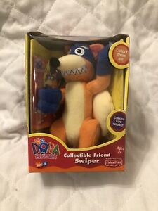 Vintage 2001 Fisher Price Dora Explorer Collectible Friend Swiper Fox Plush 5""