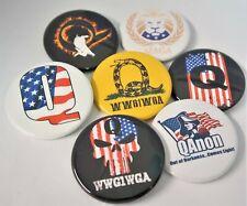 "Qanon Donald Trump,Wwg1Wga Maga Millitary Big 1.75"",Q+, Button Pin Set (7) ,P-39"