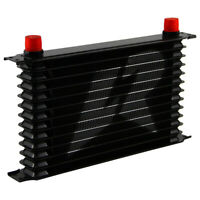 Black Painted Aluminum 13 Row Universal Engine Oil Cooler with 10AN Inlet