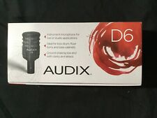 BRAND NEW Audix D6 Dynamic Cable Professional Microphone (Shure, Sennheiser, AT)