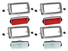 New 1969 Mustang Marker Light Assemblies Front Rear Red White Falcon Ford
