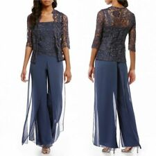 Mother Of The Bride/Groom Dresses Pants Suits Lace Outfits Jackets 3/4 Sleeves