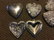 Lot 20 Hollow Heart Locket Pendant Charms Resin Breastmilk Ash Jewelry Silver