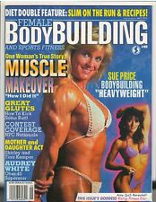 Female Bodybuilding Women's Muscle Mag Great Glutes SUE PRICE w/poster 5-95 #45