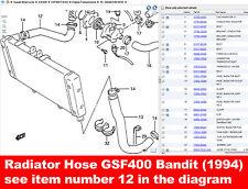 Radiador Manguera Suzuki Gsf400 Bandit (1994) 17851 10d00