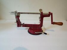 Manual Red Twisted Potato Apple Slicer Spiral French Fry Cutter Stainless Steel