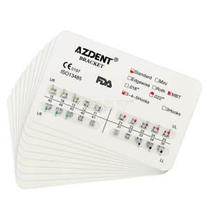 Dental Orthodontic Brackets Standard MBT Slot.018 Hooks 3 / 345 AZDENT