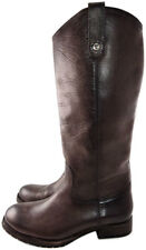 Frye Melissa Buttons Boots Riding Equestrian Brown Gray Leather Pull Boot Sz 8