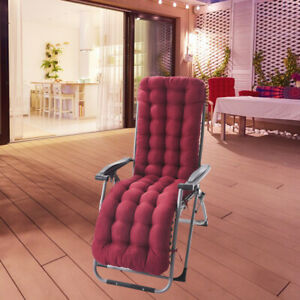 Soft Polyester Double-sided Rocking Deck Chair Mat Sunlounger Cushion Decor