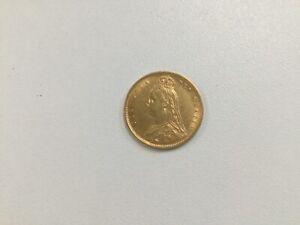 Victoria 1892 Gold Half Sovereign