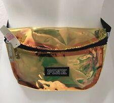 VICTORIA'S SECRET PINK Fanny Pack Travel Waist Bag Purse - Gold - Waterproof