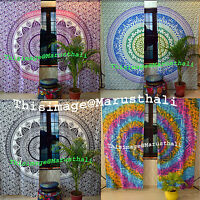 Indian Mandala Curtains Cotton Hippie Tapestry Decor Window Curtain Wall Hanging