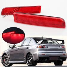 Rear Bumper Reflector Brake LED Turn Signal For Mitsubishi Lancer Evo Outlander