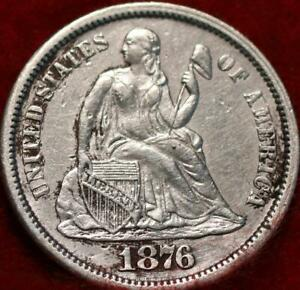 1876-CC Carson City Mint Silver Seated Liberty Dime