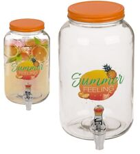 3L GLASS DISPENSER JAR DRINK COCKTAIL BEVERAGE WATER WITH TAP PUNCH JUICE HOME