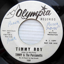 TIMMY & Persianetts TIMMY BOY popcorn 45 b/w THERE COMES A TIME northern soul wK