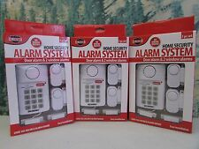 (3) Home Security Alarm System Wireless Door Window Sensor Programmable Key Pad