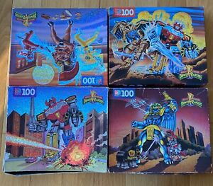 POWER RANGERS PUZZLES lot of 4 as is DAMAGED BOXES