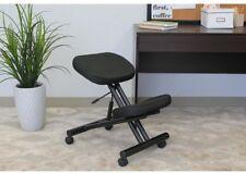Ergonomic Kneeling Stool w/ Pneumatic Height Adjustment and Dense Padding, Black