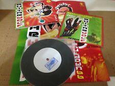"Guitar Wolf/Shutdown 66 Oz Tour Split Vinyl 7"" Record & Poster non lp songs rare"