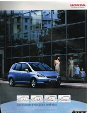 Publicité Advertising 2003 Honda Jazz