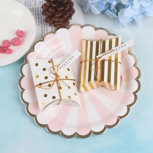 10Pcs Gift Box Pillow Shape Birthday Packaging Party Boxes Sweet Candy Cookie_cd