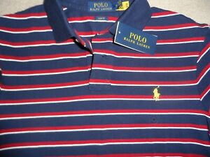 RALPH LAUREN POLO TOP MENS MEDIUM NAVY TOPS SLIM FIT DESIGNER TOP BRAND NEW