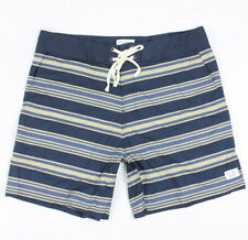 adf0752a7e Modern Amusement Mens Stripe Stretch Trunks Boardshorts Navy 38 New