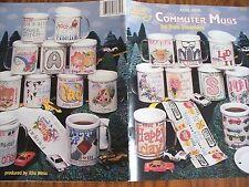 Commuter MUGS Design Cross Stitch PATTERN  Booklet/Leaflet