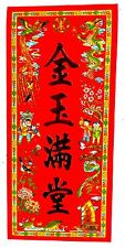 """BILD China chinesische Schriftzeichen steht für """"Reichtum"""" rot Papier 30x13 cm"""