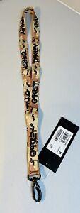 New Oakley Lanyard B1B Crazy Camouflage Neck Strap ID Holder Key Ring Chain Badg