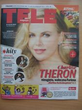 CHARLIZE THERON on front cover TELE MAGAZYN 40/2017 Polish Magazine