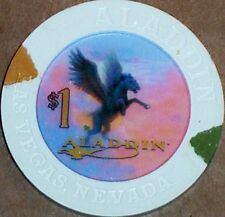 Old $1 ALADDIN Casino Poker Chip Vintage House Mold Las Vegas NV 2000