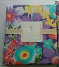1 Pottery Barn Kids Purple Poppy Floral Full/Queen Duvet Cover