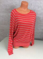 BORDEAUX Anthropologie Striped Knit Top Boatneck Women's Small