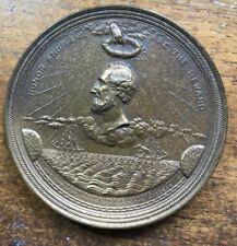 "1867 Cyrus Fields Atlantic Telegraph Cable Bronze Medal 3""  US Mint"