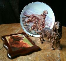 More details for vintage red irish setter bundle picture plate ornament