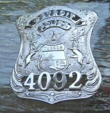 Obsolete Detroit Police Officer Badge