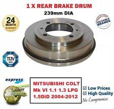 Brake Drum fits MITSUBISHI COLT Mk6 Rear 1.5 1.5D 04 to 09 203mm Brakefit New