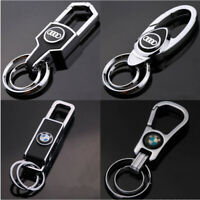 Fashion 3D Famous Car Logo Keychain Metal Emblem Pendant Key Holder Keyring Gift