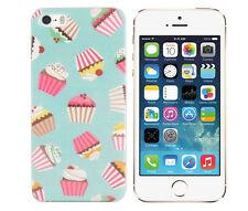 Hülle für Apple iPhone SE Schutz Tasche Case Cover Etui Handy Cupcake Muffin