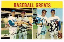 Sandy Koufax Willie Mays Dean Chance Don Drysdale Autograph Signature JSA LOA