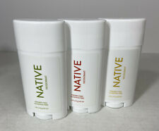 Native Natural Deodorant Aluminum & Paraben Free 3 Pack Variety NEW